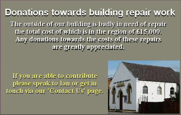 Appeal for donations to help with building repairs